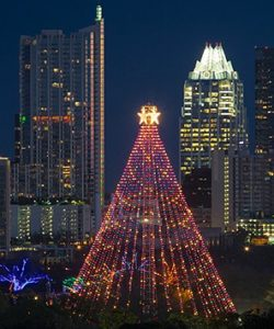Each year during the holiday season, the city of Austin puts up the beautiful Zilker Park Christmas Tree. With the skyscrapers of downtown in the background, this scene puts every one in the spirit of the season - unless you are one of those battling the traffic to see the Trail of Lights. Oh My!